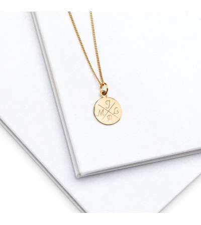 Halskette Initialen 585er Gold