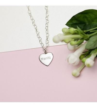 Halskette Herz in Herz Silber