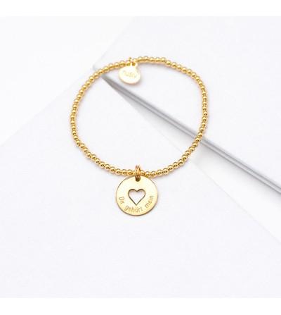 2,5 mm Kugelarmband Herz...