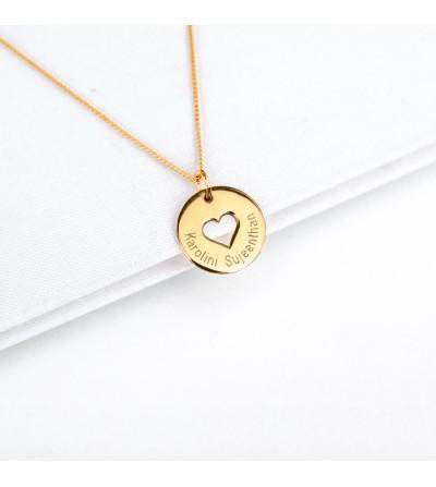 Halskette gestanztes Herz...